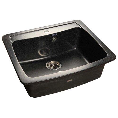 Врезная кухонная мойка 60.5 см GranFest Standart GF-S605 черный