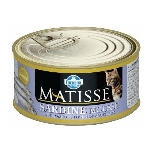 Корм для кошек Farmina Matisse с сардиной 85 г корм консервированный для кошек farmina matisse мусс с ягненком 85 г