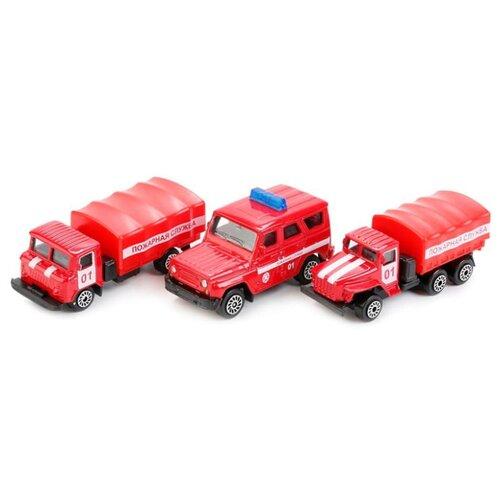 Купить Машинка ТЕХНОПАРК Пожарная техника в банке (SB-17-30-CDU) 1:72 7.5 см, Машинки и техника