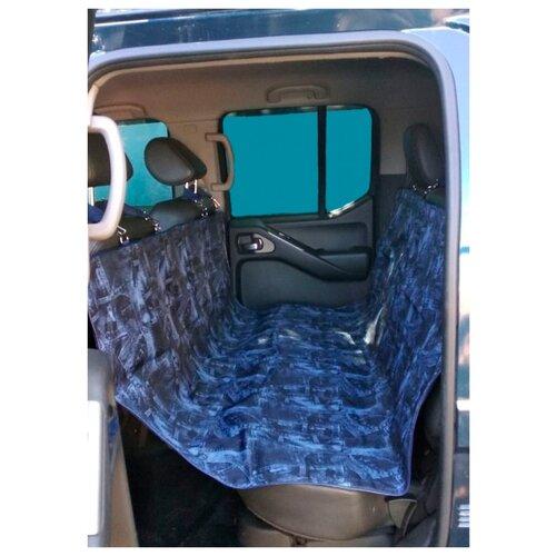 Автогамак для собак Теремок АЧ-1 140х147 см темно-синий