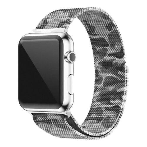 CARCAM Ремешок для Apple Watch 38 mm Milanese Loop Металл хаки