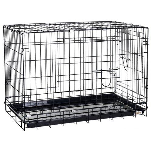 Клетка для собак Kredo 044 108х69х78 см черный