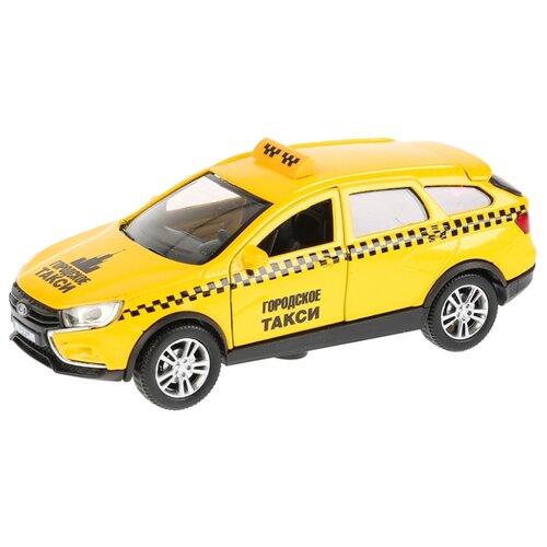 Легковой автомобиль ТЕХНОПАРК Lada Vesta SW Cross Такси (VESTA-CROSS-T) 12 см желтыйМашинки и техника<br>