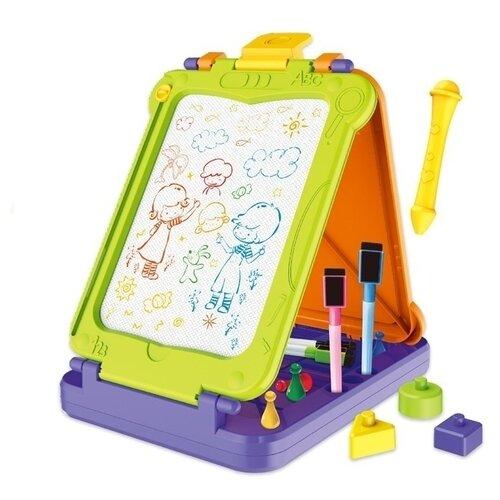 Доска для рисования детская BOWA 3 в 1 (8268) фиолетовый/зеленый/оранжевый