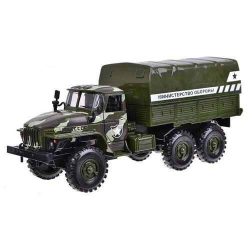 Фургон Play Smart Автопарк Урал Министерство обороны (9464C) 25 см зеленый грузовик play smart автопарк урал аварийная служба 9464a 25 см оранжевый