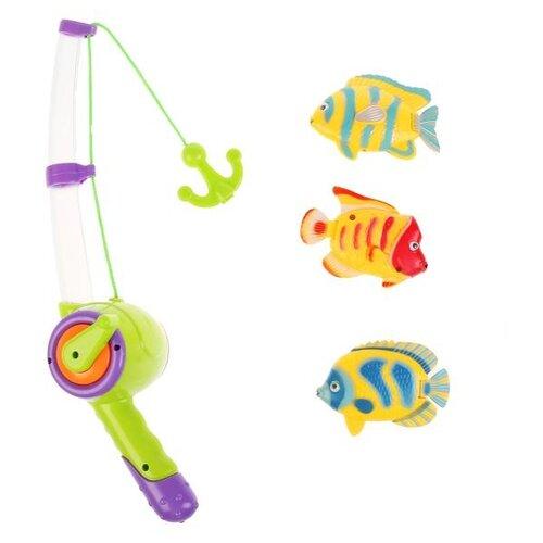 Рыбалка Играем вместе Три кота K095-H19006-R зеленый/желтый/фиолетовый/красный/синий игрушки для ванны играем вместе игра рыбалка три кота k095 h19006 r