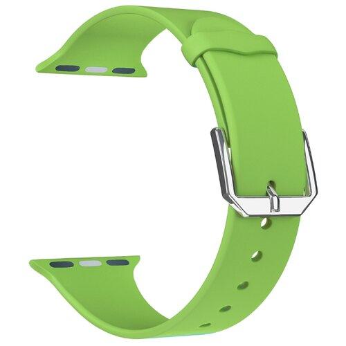 Фото - Lyambda Силиконовый ремешок Alcor для Apple Watch 38/40 mm green lyambda силиконовый ремешок alcor для apple watch 42 44 mm green