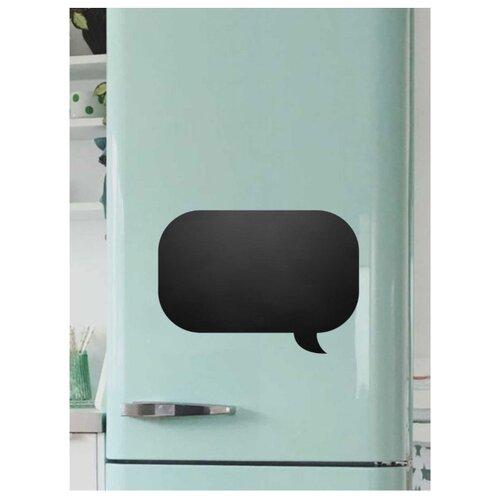 Доска на холодильник меловая Doski4you ПолуЧат комплект (25х40 см) черная магнитно грифельная доска на холодильник время обеда черная