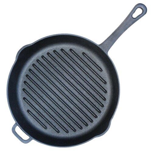 Сковорода-гриль Биол 1124 24 см, черный frying pan биол 24 cm