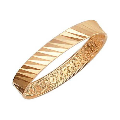 Эстет Кольцо из красного золота 01О710393, размер 19 ЭСТЕТ