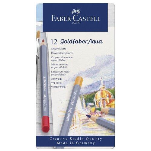 Купить Faber-Castell Акварельные карандаши Goldfaber Aqua, 12 цветов (114612), Цветные карандаши