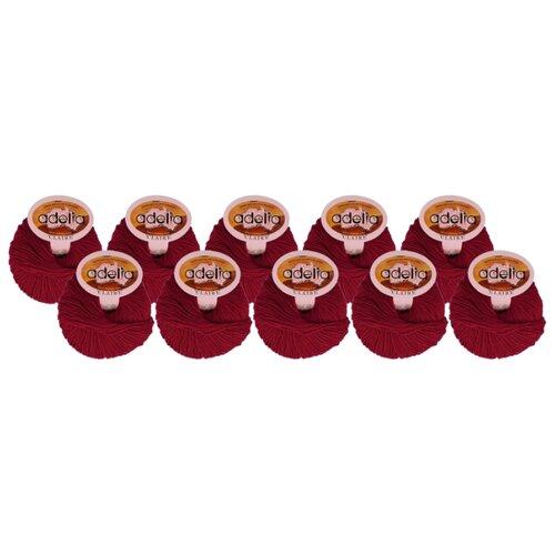 Купить Пряжа Adelia Claire, 50 % шерсть, 50 % акрил, 50 г, 138 м, 10 шт., №223 т.красный