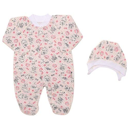 Купить Комплект одежды Клякса размер 20-62, серо-розовый, Комплекты