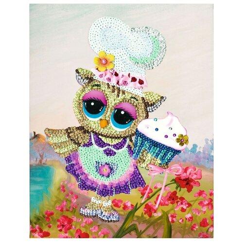 Купить Волшебная Мастерская Мозаика из пайеток Поваренок совушка МХ-20, Картины из пайеток