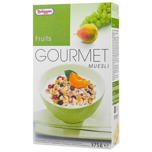Мюсли Bruggen Gourmet хлопья фруктовые, коробка, 375 г bruggen мюсли с изюмом и орехами 1 кг