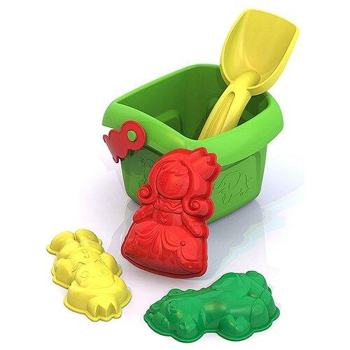 Купить Набор Нордпласт №134 зеленый/красный/желтый, Наборы в песочницу