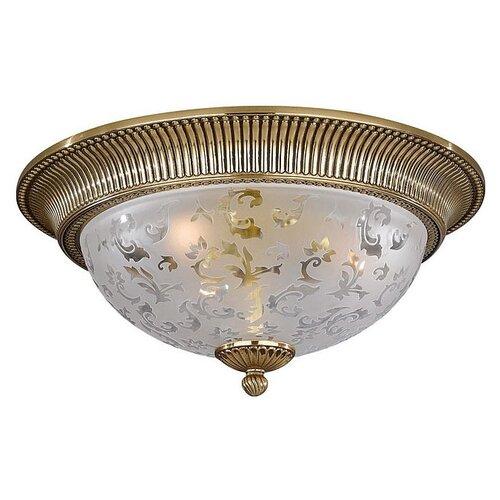 Фото - Люстра Reccagni Angelo 6302 PL 6302/3, E27, 180 Вт, кол-во ламп: 3 шт., цвет арматуры: золотой, цвет плафона: бесцветный люстра reccagni angelo pl 2720 3 180 вт