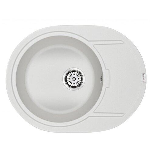 Врезная кухонная мойка 65 см Paulmark Oval PM316502 белый