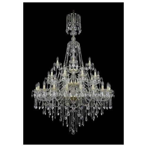 Фото - Люстра Bohemia Ivele Crystal 1415 1415/20+10+5/400/XL-180/3d/G, E14, 1400 Вт люстра bohemia ivele crystal 1415 1415 20 10 5 400 xl 180 3d g e14 1400 вт