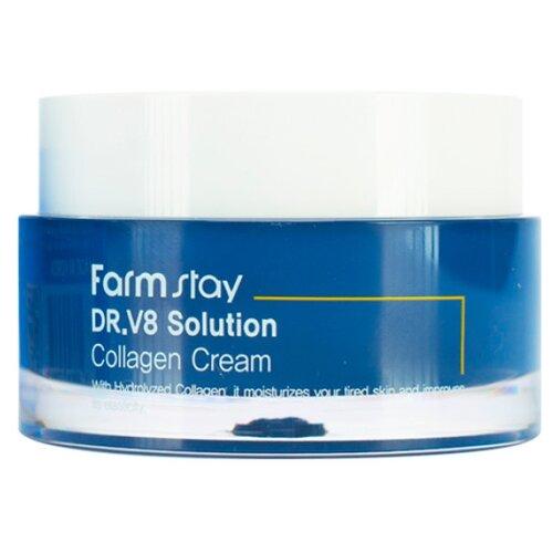 Farmstay DR.V8 Solution Collagen cream Крем с коллагеном, 50 мл крем с коллагеном farmstay dr v8 solution collagen cream 50ml