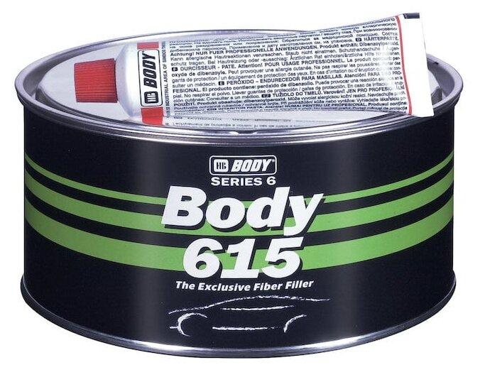 Комплект (шпатлевка, отвердитель) HB BODY 615 Fiber 0.9 кг