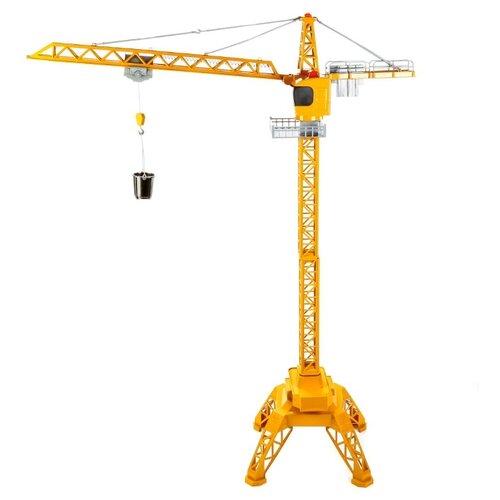 Купить Подъемный кран Delectation Toys Limited 9814 1:36 желтый, Радиоуправляемые игрушки