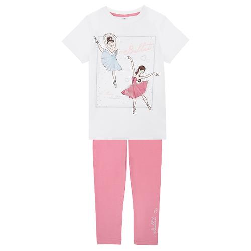 Комплект одежды playToday размер 116, белый/светло-розовый комплект одежды playtoday размер 110 белый светло розовый