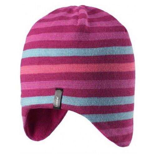 Купить Шапка Lassie размер M/004, розовый/вишневый/серый, Головные уборы
