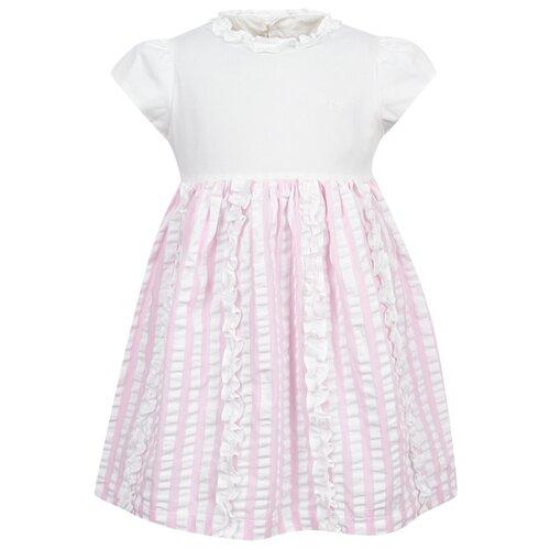 Платье Il Gufo размер 74, белый/розовый