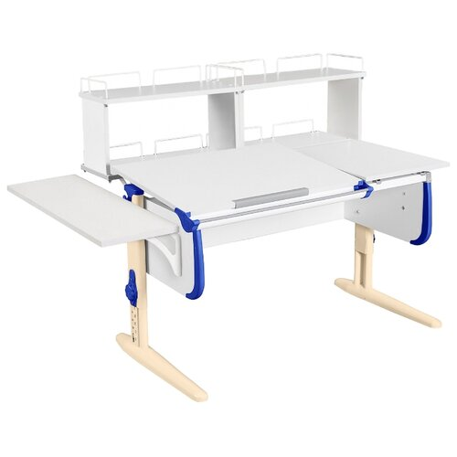 Стол ДЭМИ СУТ-25-02Д2 145x82 см белый/синий/бежевый стол дэми сут 25 02д2 145x82 см белый зеленый бежевый