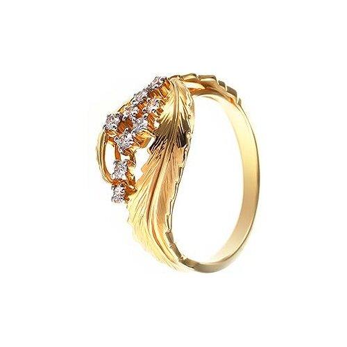 цена на JV Кольцо с 9 бриллиантами из жёлтого золота AAS-3825R-KO-DN-YG, размер 17