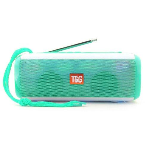 Портативная акустика T&G TG144 бирюзовый вибромассажер g точки skye бирюзовый