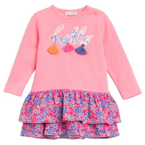Платье COCCODRILLO HELLO размер 74, розовый бриджи coccodrillo hello sweetie w19122301hel размер 86 розовый