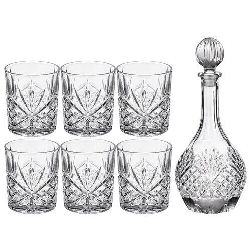 Набор для виски Lefard muza 7 пр.: штоф + 6 стаканов 950/300 мл (195-208) недорого