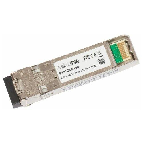 SFP+ трансивер MikroTik S+31DLC10D маршрутизатор mikrotik ccr1036 8g 2s 8x10 100 1000mbps 2xsfp 1xmicrousb