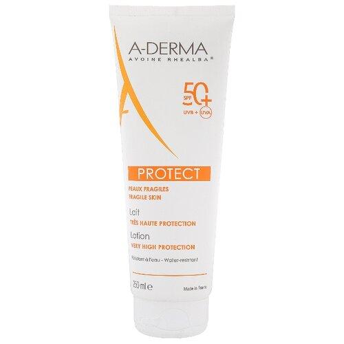 A-Derma Protect солнцезащитный лосьон SPF 50+ 250 мл a derma protect солнцезащитный лосьон для детей с высокой степенью защиты spf 50 250 мл