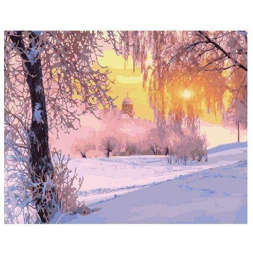 "ВанГогВоМне Картина по номерам ""Зимнее морозное утро"", 40х50 см"