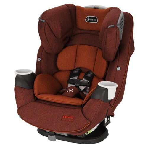 Автокресло группа 0/1/2/3 (до 36 кг) Evenflo SafeMax Platinum Series, brown red