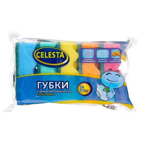 Губка для мытья посуды Celesta Волна 5 шт губка для мытья посуды celesta волна 5 шт