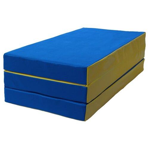 Спортивный мат 1500х1000х100 мм КМС № 4 сине/жёлтый