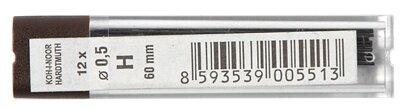 KOH-I-NOOR Грифели для цангового карандаша 4152 H 12 шт. (415200H005PK)