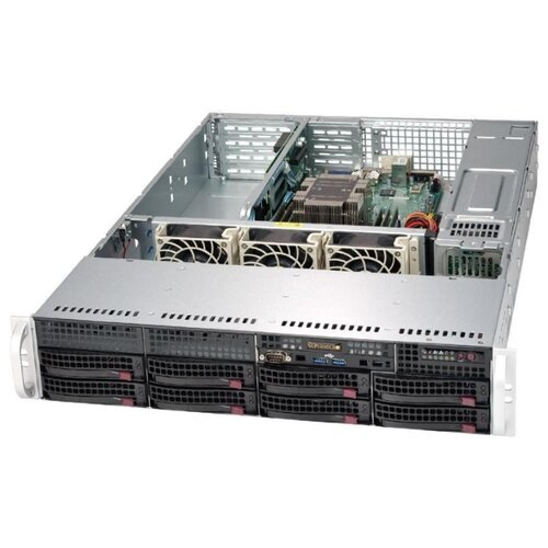 Сервер Supermicro SuperServer 5029P-WTR без процессора/без ОЗУ/без накопителей/количество отсеков 3.5 hot swap: 8/2 x 500 Вт/LAN 10 Гбит/c сервер supermicro superserver 5019s wr без процессора без озу без накопителей количество отсеков 3 5 hot swap 4 2 x 500 вт