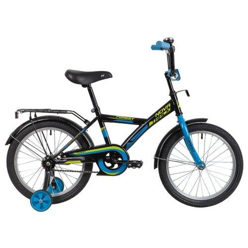 цена на Детский велосипед Novatrack Forest 18 (2020) черный (требует финальной сборки)