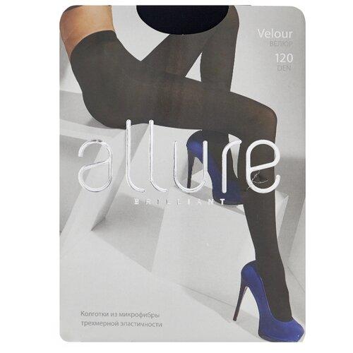 Колготки ALLURE Brilliant Velour 120 den, размер 3, nero (черный) колготки glamour velour 3 120 den черный