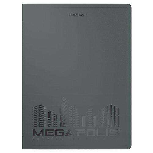 Фото - ErichKrause Папка файловая с 40 карманами MEGAPOLIS A4, 4 штуки серый erichkrause папка файловая с 40 карманами на спирали metallic а4 разноцветный