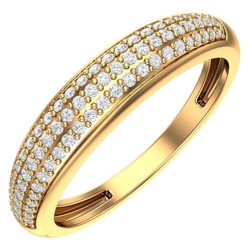 POKROVSKY Золотое кольцо с бесцветными фианитами 1100728-00770, размер 16.5