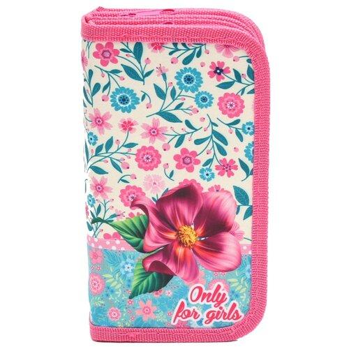Проф-Пресс Пенал Милые цветы на бежевом (ПН-5950) розовый
