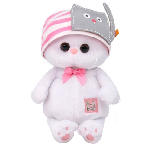 Купить Мягкая игрушка Basik&Co Кошка Ли-Ли baby в шапочке с кошечкой 20 см, Мягкие игрушки
