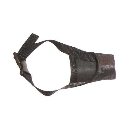 намордник для собак ferplast safe medium обхват морды 20 25 см черный Намордник для собак Зооник Матерчатый №0 (на блистере), обхват морды 20 см черный