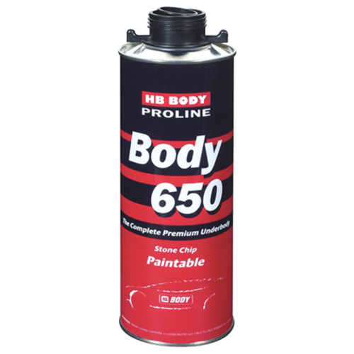 Жидкий антигравий HB BODY Body 650 черный банка 1 кг